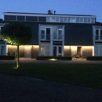 Buitenverlichting in woonwijk met led